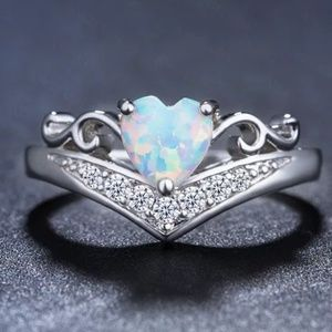 Fire Opal Sterling Silver Ring